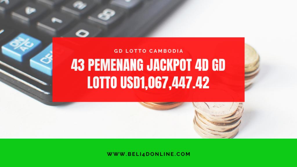 43 Pemenang 4D Jackpot GD Lotto USD1067447